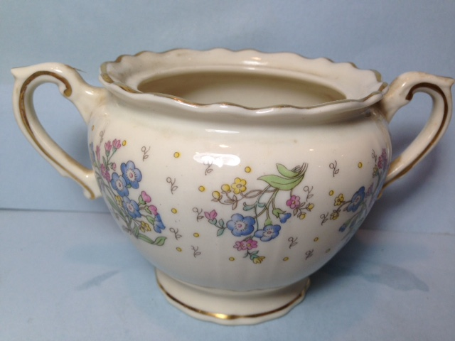 Make sure your browser can show photos and reload this page to see Syracuse China Forget Me Not Sugar bowl (no lid)