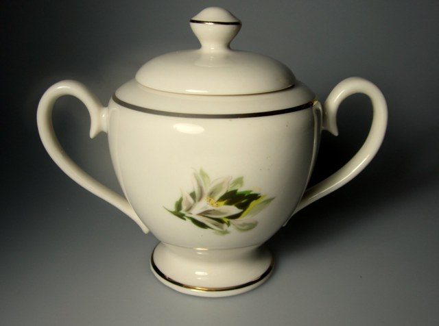 Make sure your browser can show photos and reload this page to see Fine Arts China Remembrance  Sugar bowl with lid