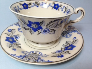 Make sure your browser can show photos and reload this page to see Syracuse China Lady Mary Cup and saucer set