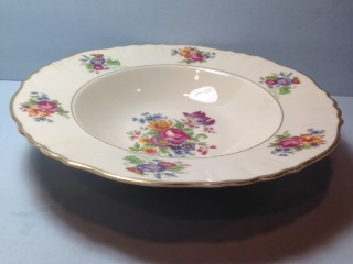 Make sure your browser can show photos and reload this page to see Syracuse China Santa Rosa Soup bowl, rim shape