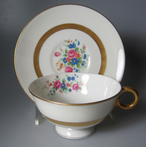 Make sure your browser can show photos and reload this page to see Haviland China Gainsborough Cup and saucer set USA; 2 1/8