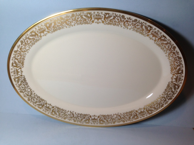 Make sure your browser can show photos and reload this page to see Lenox China Tuscany Platter, large --16 1/4