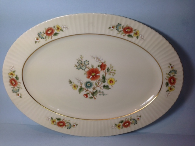 Make sure your browser can show photos and reload this page to see Lenox China Temple Blossom Platter, medium --15 3/4