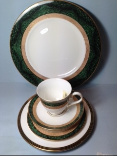Make sure your browser can show photos and reload this page to see Lenox China Federal Grandeur Place setting 5-piece