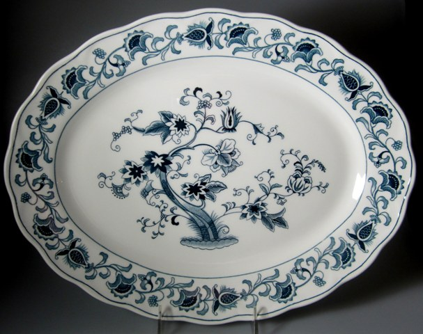 Make sure your browser can show photos and reload this page to see Nikko Dinnerware Ming Tree 505 Platter, large  15 3/4