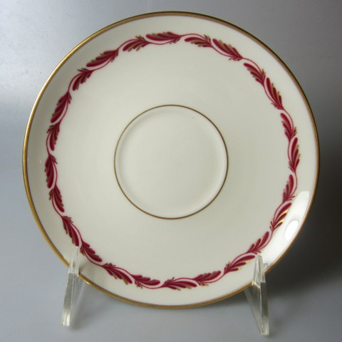 Make sure your browser can show photos and reload this page to see Franciscan China Arcadia - Maroon Saucer only   6