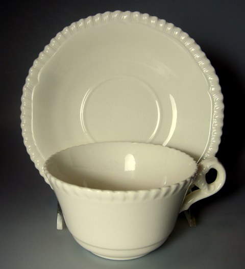 Make sure your browser can show photos and reload this page to see Spode China Gadroon Cup and saucer set 2 1/8