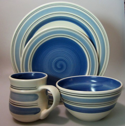 Make sure your browser can show photos and reload this page to see Pfaltzgraff China Rio Place setting 4-piece  (Made in Mexico) New but not in original box