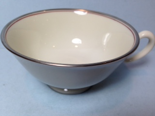 Make sure your browser can show photos and reload this page to see Lenox China Dubarry Grey X433 Cup only (no saucer)