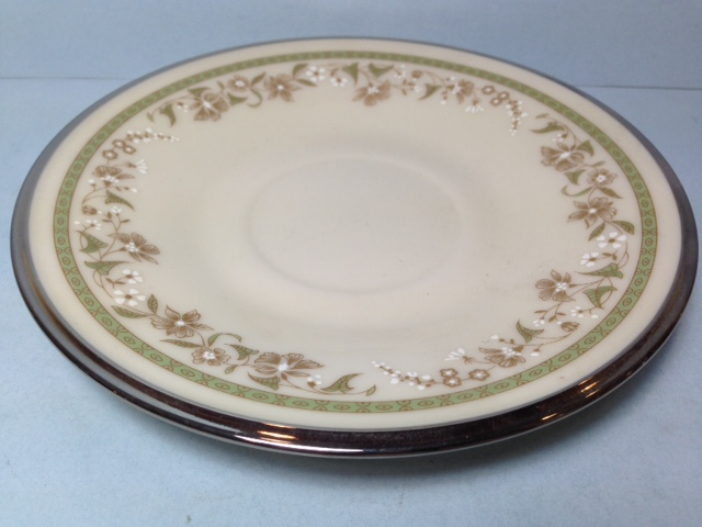Make sure your browser can show photos and reload this page to see Lenox China Fresh Meadow Saucer only