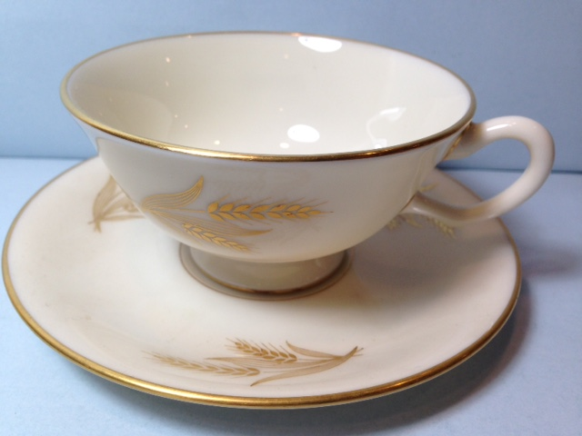 Make sure your browser can show photos and reload this page to see Lenox China Harvest Cup and saucer set