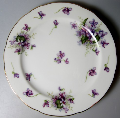 Make sure your browser can show photos and reload this page to see Rossetti China Spring Violets  Salad plate  (MADE IN JAPAN)  7 7/8