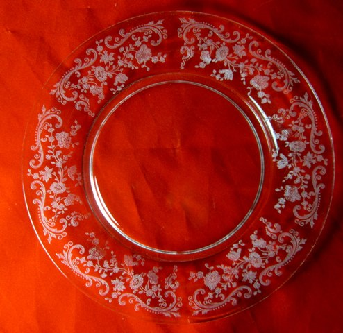 Make sure your browser can show photos and reload this page to see Cambridge Crystal Chantilly Stem # 3625 Salad plate  7 1/2