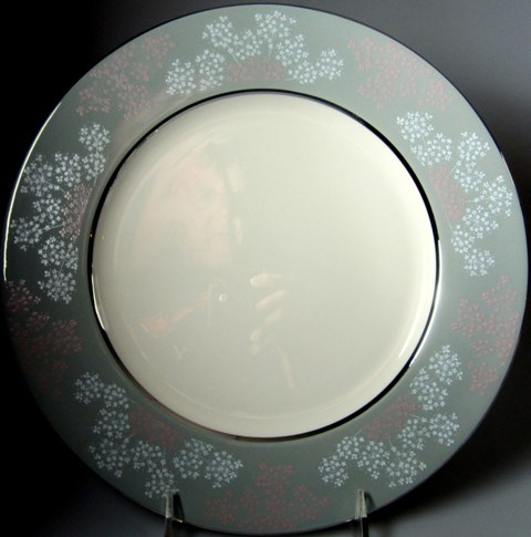 Make sure your browser can show photos and reload this page to see Castleton - USA China Lace  Dinner plate 10 3/4