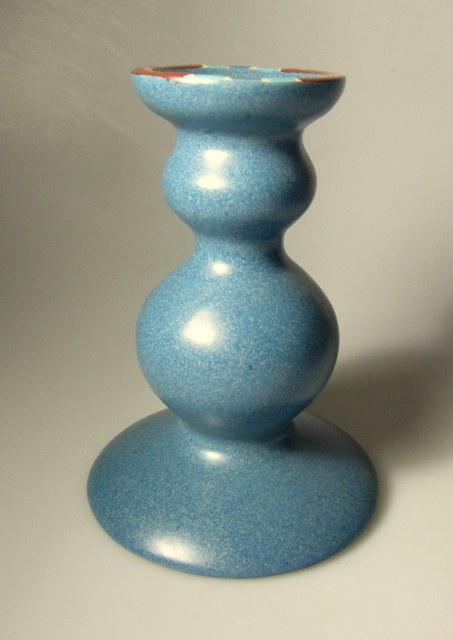 Make sure your browser can show photos and reload this page to see Dansk China Mesa - Sky Blue Candlestick  /PORTUGAL 5 1/2
