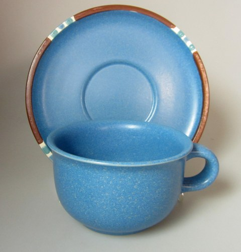 Make sure your browser can show photos and reload this page to see Dansk China Mesa - Sky Blue Cup and saucer set