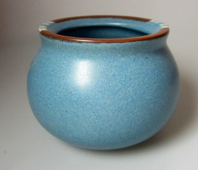 Make sure your browser can show photos and reload this page to see Dansk China Mesa - Sky Blue Sugar bowl (no lid)  JAPAN