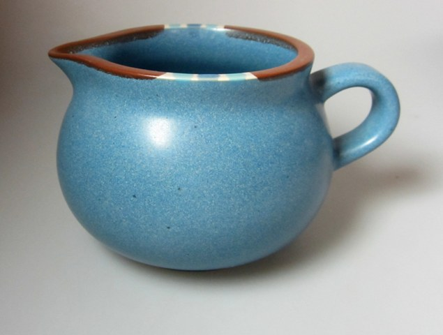 Make sure your browser can show photos and reload this page to see Dansk China Mesa - Sky Blue Creamer  JAPAN