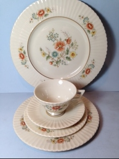 Make sure your browser can show photos and reload this page to see Lenox China Temple Blossom Place setting 5-piece