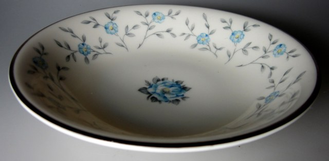 Make sure your browser can show photos and reload this page to see Ancestral - Am Hostess China Blue Lace Fruit/dessert bowl  5 3/4