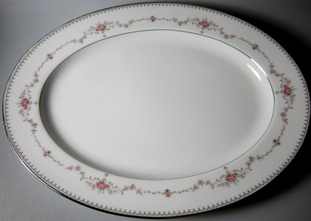 Make sure your browser can show photos and reload this page to see Noritake China Fairmont 6102 Platter, medium 13 3/4