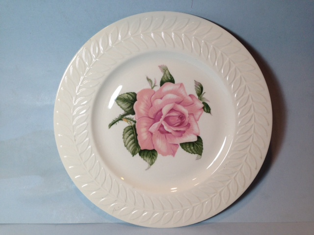 Make sure your browser can show photos and reload this page to see Haviland China Regents Park Rose Dinner plate