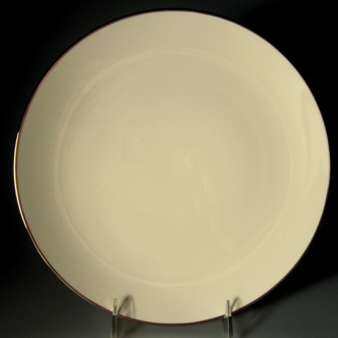 Make sure your browser can show photos and reload this page to see Franciscan China Platinum Band  Dinner plate 10 1/4