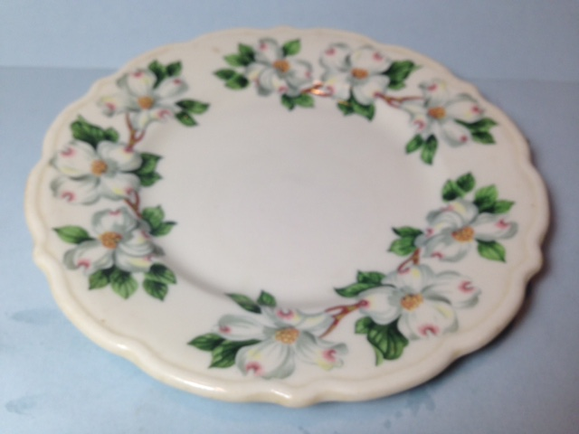 Make sure your browser can show photos and reload this page to see Syracuse China Dogwood Salad plate --Restaurant Ware