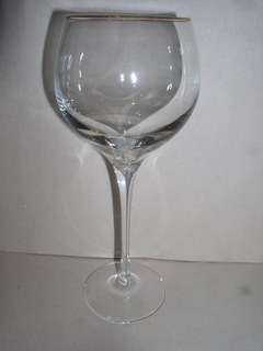 Make sure your browser can show photos and reload this page to see Lenox Crystal Eternal Gold Goblet, water  --8 3/4