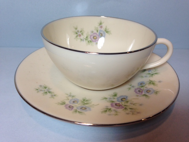 Make sure your browser can show photos and reload this page to see Lenox China Maywood H502 Cup and saucer set