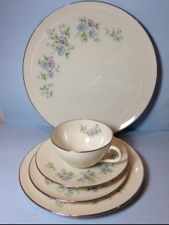 Make sure your browser can show photos and reload this page to see Lenox China Maywood H502 Place setting 5-piece