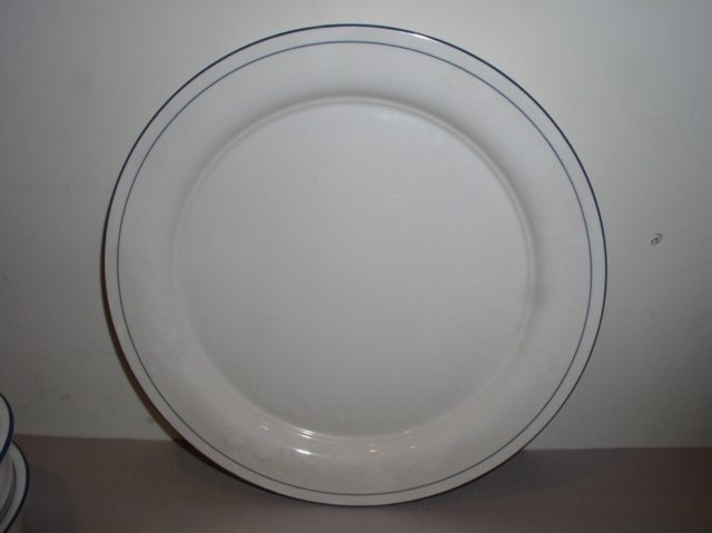 Make sure your browser can show photos and reload this page to see Lenox China For The Blue Bread and butter plate