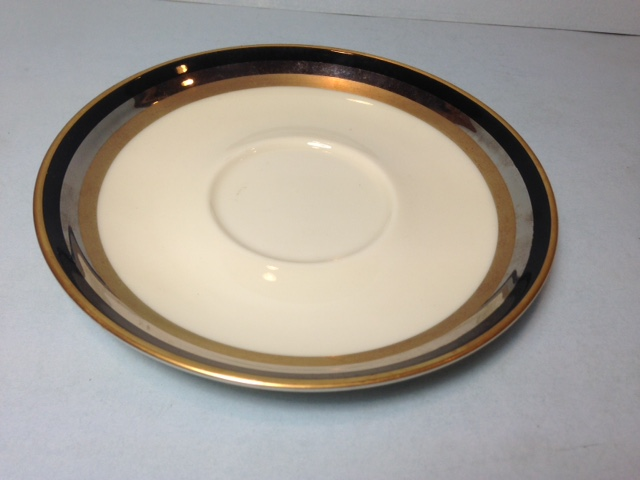 Make sure your browser can show photos and reload this page to see Gorham China Midnight Contessa Saucer only