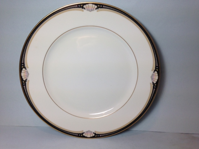 Make sure your browser can show photos and reload this page to see Gorham China Newport Scroll Dinner plate