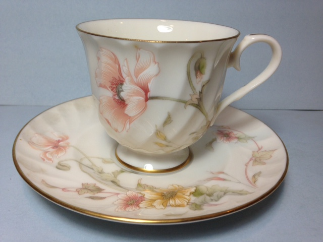 Make sure your browser can show photos and reload this page to see Gorham China Trellis Cup and saucer set