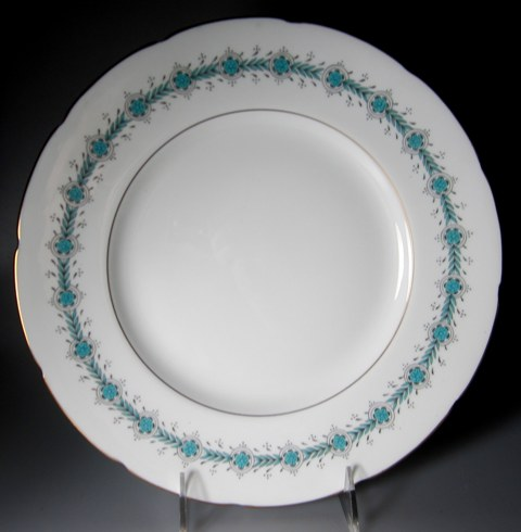 Make sure your browser can show photos and reload this page to see Coalport China Regent  Dinner plate 10 3/4