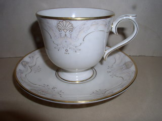 Make sure your browser can show photos and reload this page to see Lenox China Richelieu Court Cup and saucer set