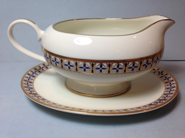Make sure your browser can show photos and reload this page to see Gorham China Cambridge Gravy-attached stand
