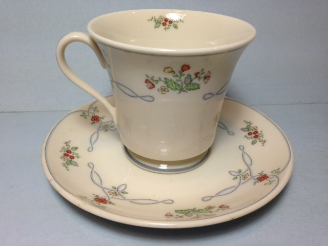 Make sure your browser can show photos and reload this page to see Gorham China Golden Ribbon Edge Cup and saucer set