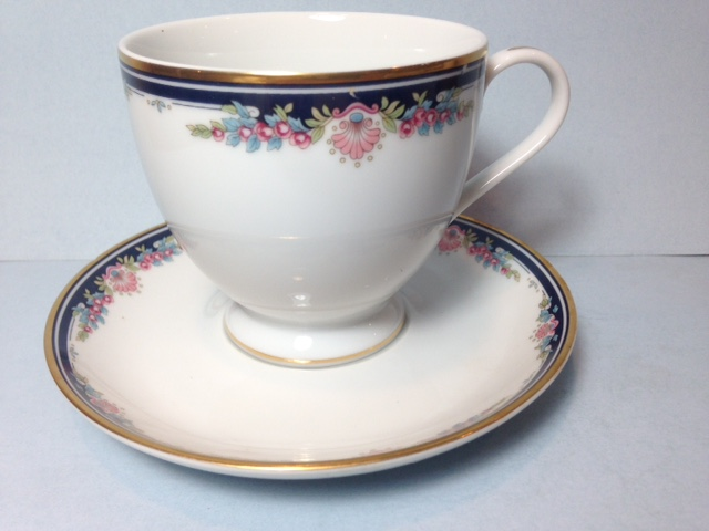 Make sure your browser can show photos and reload this page to see Gorham China Chantilly Cup and saucer set