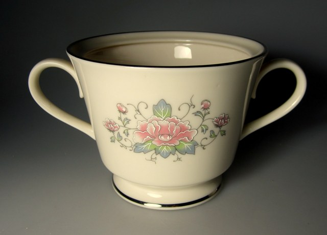 Make sure your browser can show photos and reload this page to see Lenox China Charleston  Sugar bowl (no lid)