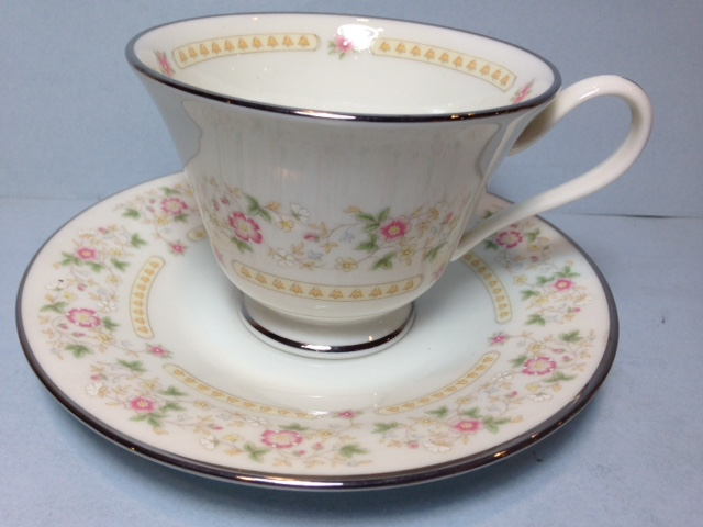 Make sure your browser can show photos and reload this page to see Oxford (Div Of Lenox) China Rosemont Cup only (no saucer)