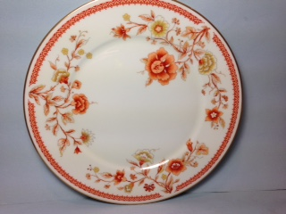 Make sure your browser can show photos and reload this page to see Oxford (Div Of Lenox) China Lotus Garden Dinner plate --
