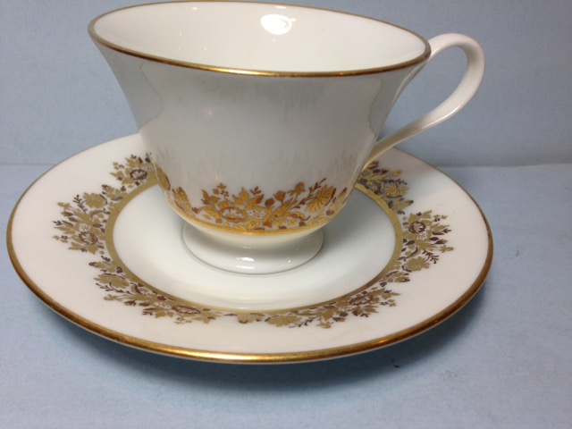 Make sure your browser can show photos and reload this page to see Oxford (Div Of Lenox) China Golden Dawn Cup and saucer set