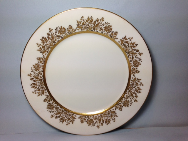 Make sure your browser can show photos and reload this page to see Oxford (Div Of Lenox) China Golden Dawn Dinner plate