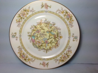 Make sure your browser can show photos and reload this page to see Oxford (Div Of Lenox) China Song Birds Dinner plate -