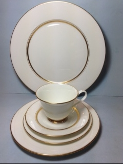 Make sure your browser can show photos and reload this page to see  Andover Place setting 5-piece  --cup,saucer,dinner,salad,B&B plates