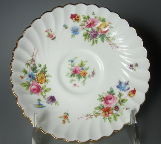 Make sure your browser can show photos and reload this page to see Minton China Marlow S309 Saucer only 5 5/8