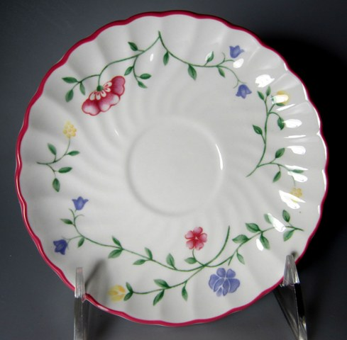 Make sure your browser can show photos and reload this page to see Johnson Brothers Dinnerware  Summer Chintz Saucer only 5 1/2