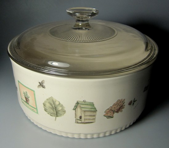 Make sure your browser can show photos and reload this page to see Pfaltzgraff China Naturewood Casserole/covered  Round, 2.5 Qt, 8 5/8